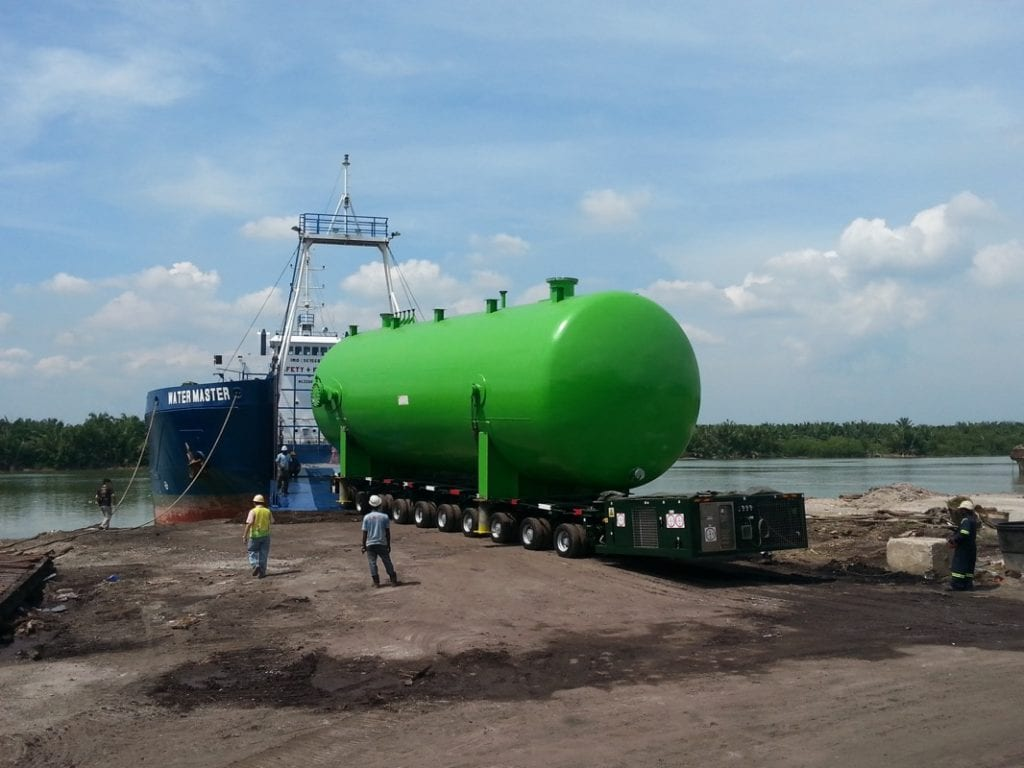 A project freight forwarder specialised in barge transport in Malaysia