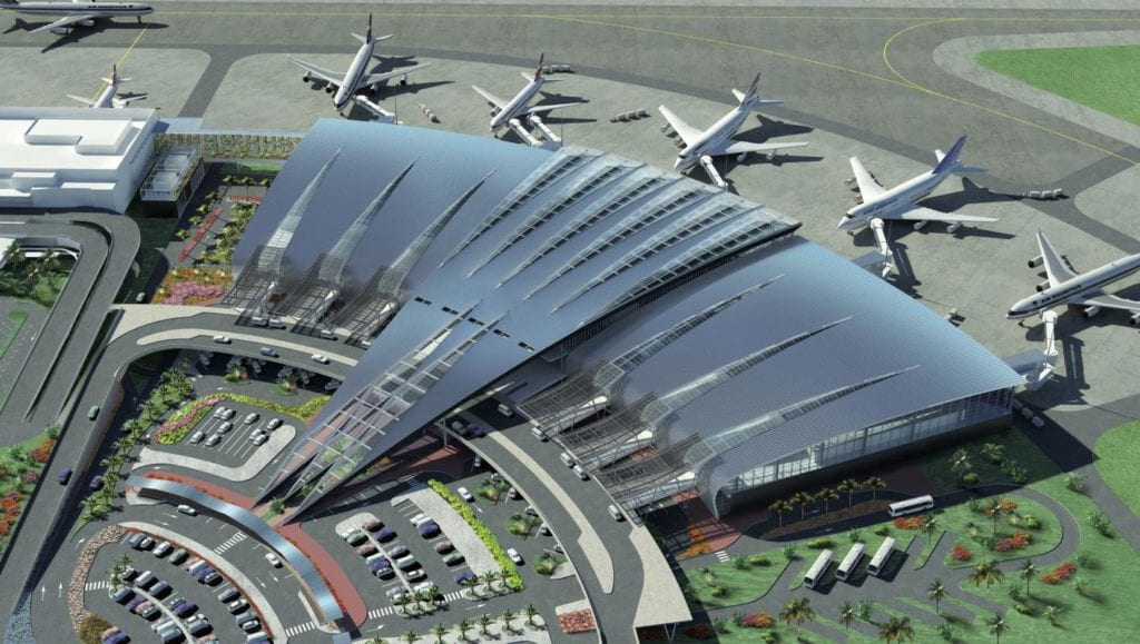 Mauritius Airport Top View