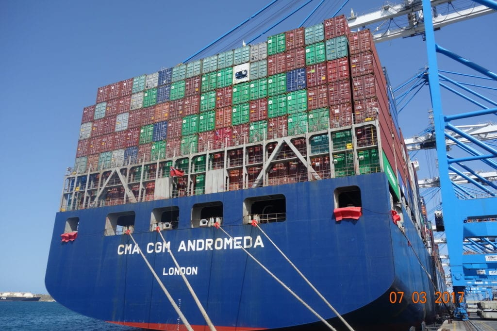 The vessel I am traveling as passenger on - mv CMA CGM Andromeda