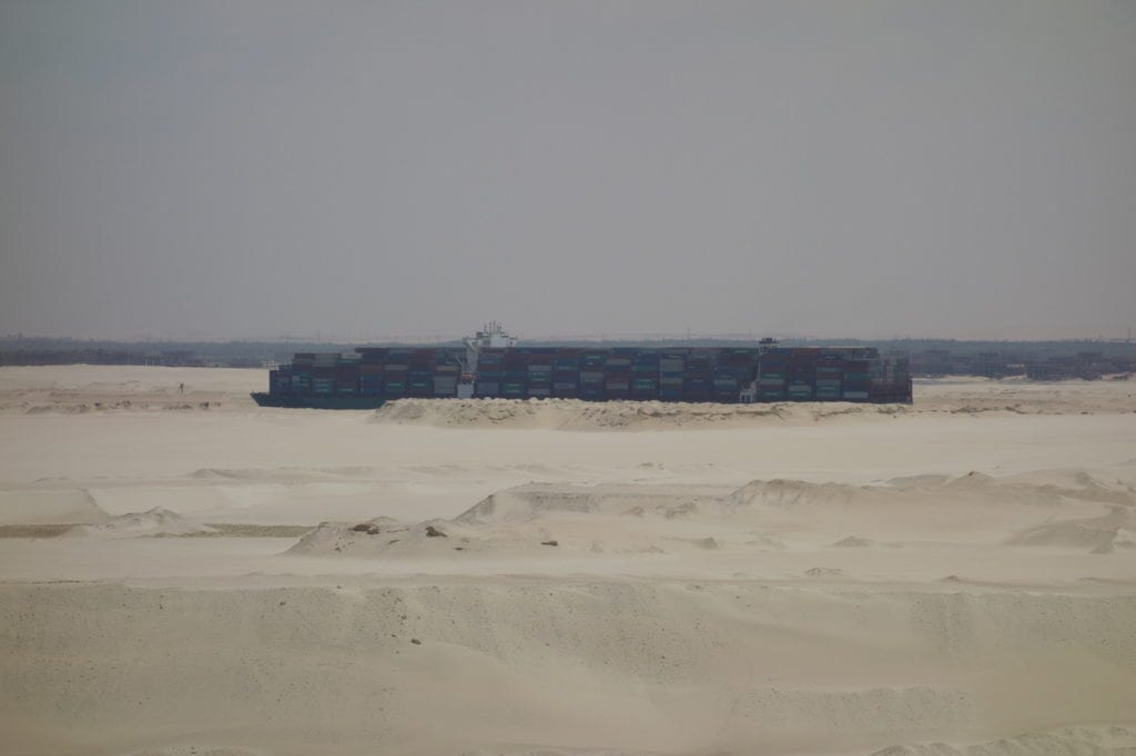a vessel on the Suez