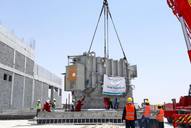 Transformers handled by Sharaf Shipping Agency for sites at Aindar and Foudah