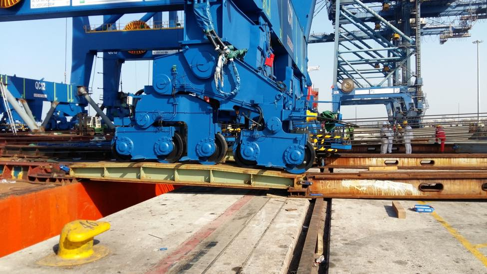 Discharging STS cranes for the new berth at RSGT Container Terminal