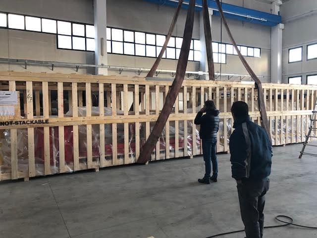 Preparing cargo destined for Sohar