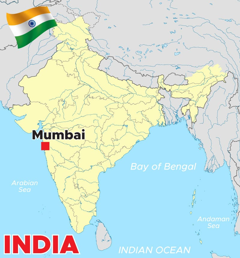 Mumbai India Map