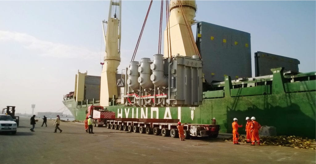 Transportation and delivery of 87 Transformers